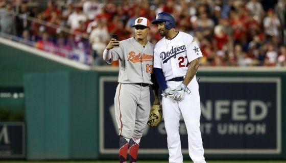 Manny Machado ahora será compañero de equipo de Matt Kemp en los Dodgers de Los Ángeles. LA PRENSA/Patrick Smith/Getty Images/AFP