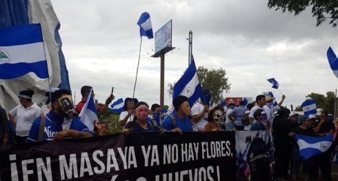 manifestantes, Masaya, Costa Rica, exiliados