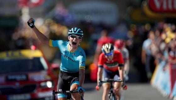 El danés Magnus Cort Nielsen se impuso en el esprint final de la etapa 15 del Tour de Francia. LA PRENSA/EFE/EPA/YOAN VALAT
