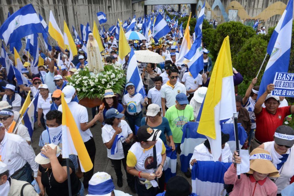 Los párrocos de Masaya, Diriamba, Jinotega, Matagalpa, León, Jinotepe, Managua y en otras ciudades han mediado para que cesen los ataques de la Policía y los paramilitares. LA PRENSA/ ÓSCAR NAVARRETE