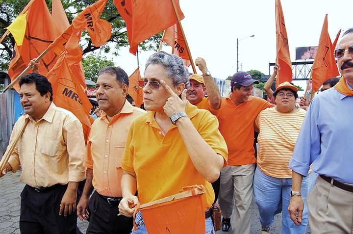 Los principales dirigentes del MRS son señalados por el régimen de Daniel Ortega de ser terroristas. Desde 2008 no pueden participar como partido político. LA PRENSA/ ARCHIVO