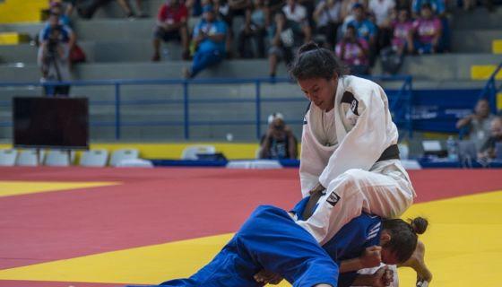 La nicaragüense Sayra Laguna perdió en el combate por el bronce en el judo de los Juegos Centroamericanos y del Caribe de Barranquilla 2018. LA PRENSA/ARCHIVO/WILMER LÓPEZ