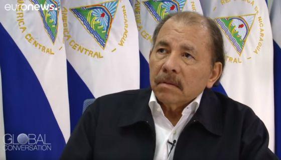 Durante la entrevista con EuroNews, Daniel Ortega reveló la supuesta cantidad actualizada de muertos durante las protestas en Nicaragua. LA PRENSA/ CAPTURA