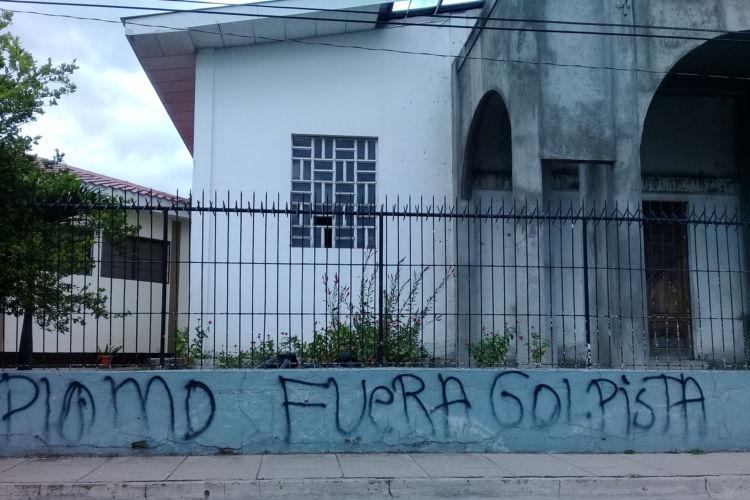 Asedio, iglesia católica, Estelí, campaña de desprestigio, golpista, obispo Abelardo Mata