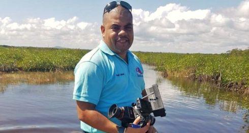 Ángel Gahona, el periodista asesinado en Bluefields durante el inicio de las protestas. LA PRENSA/ CORTESÍA