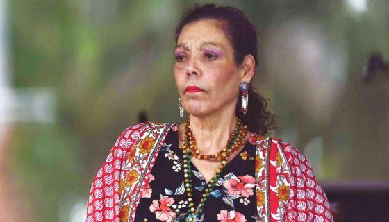 Rosario Murillo, la vicepresidenta designada y vocera del gobierno de Daniel Ortega. LA PRENSA/ AFP