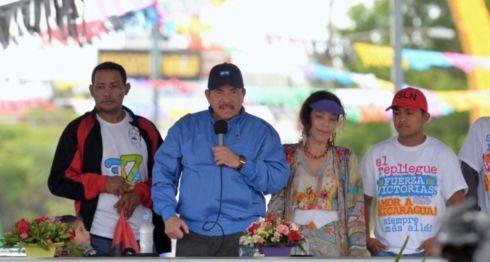 Román González en uno de los actos públicos del Gobierno de Daniel Ortega años atrás. LA PRENSA/ ARCHIVO