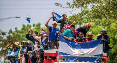 Campesinos del movimiento anticanal han participado en al menos dos marchas nacionales en Managua. LA PRENSA/ ÓSCAR NAVARRETE