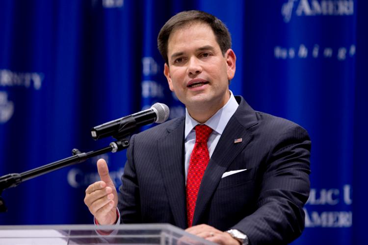 Marco Rubio, senador republicano de Estados Unidos. LA PRENSA/ ARCHIVO/ AP