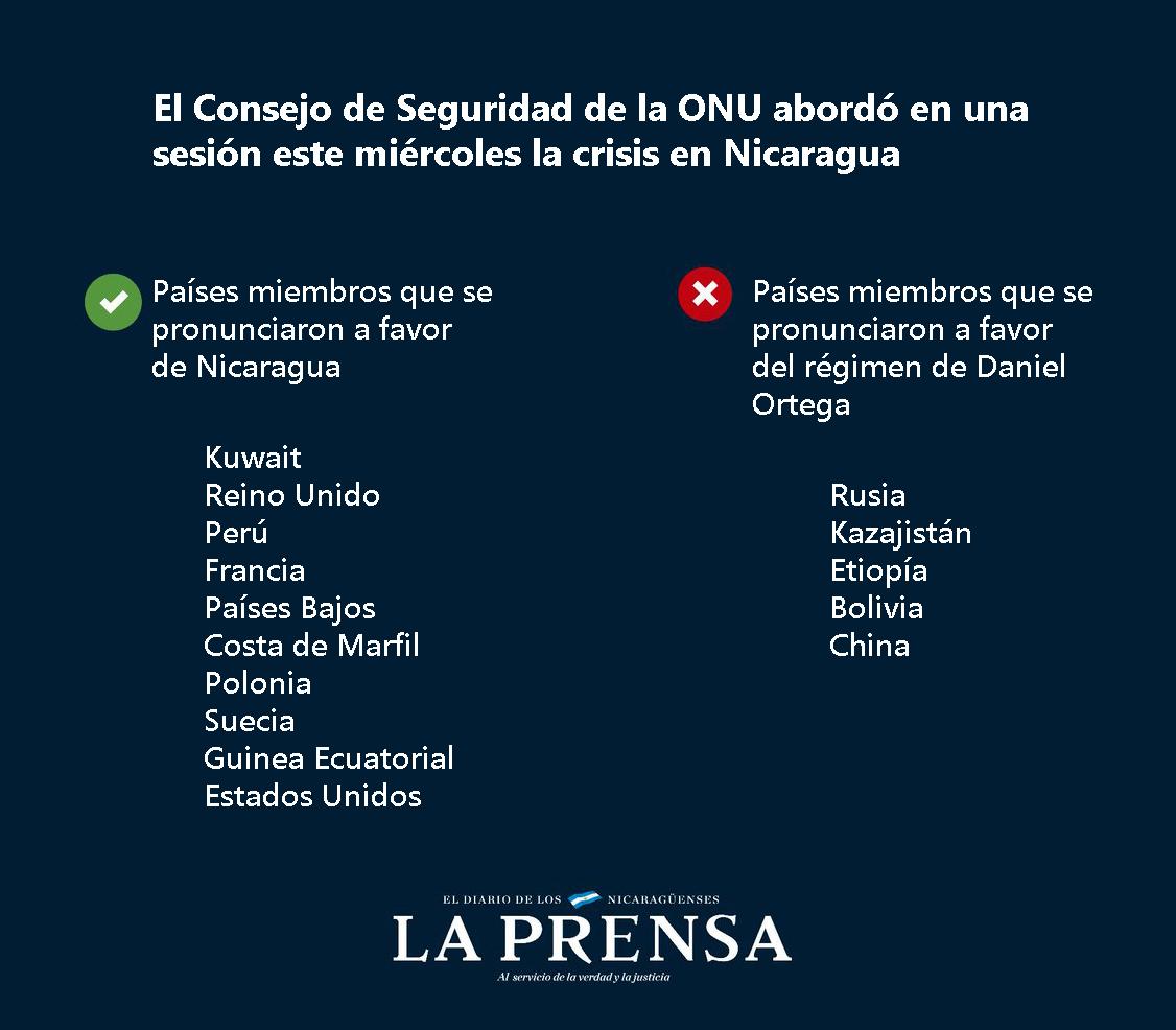 Países en el Consejo de Seguridad de la ONU piden el cese de