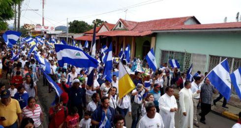La Iglesia Católica en Nicaragua es víctima de asedio de parte del orteguismo, por apoyar a la población víctima de la represión. LA PRENSA/ ARCHIVO