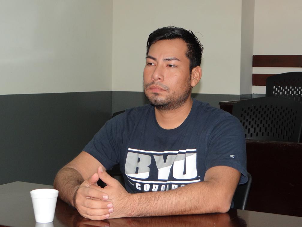 Yubrank Suazo en la audiencia el pasado sábado 15 de septiembre. LA PRENSA/ ALEJANDRO FLORES