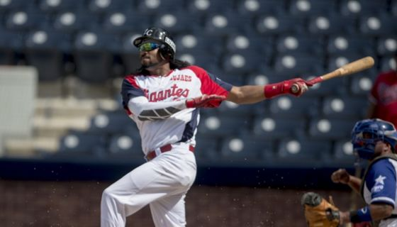 Darrel Campbell fue nombrado el Jugador Más Valioso del Juego de Estrellas del beisbol nicaragüense 2018. LA PRENSA/URIEL MOLINA