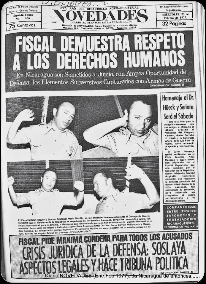 """La dictadura somocista también se empeñaba en """"demostrar"""" que los presos políticos recibían buen trato en las cárceles. En realidad eran torturados salvajemente. LA PRENSA/ CORTESÍA ARCHIVO AVIL RAMÍREZ"""