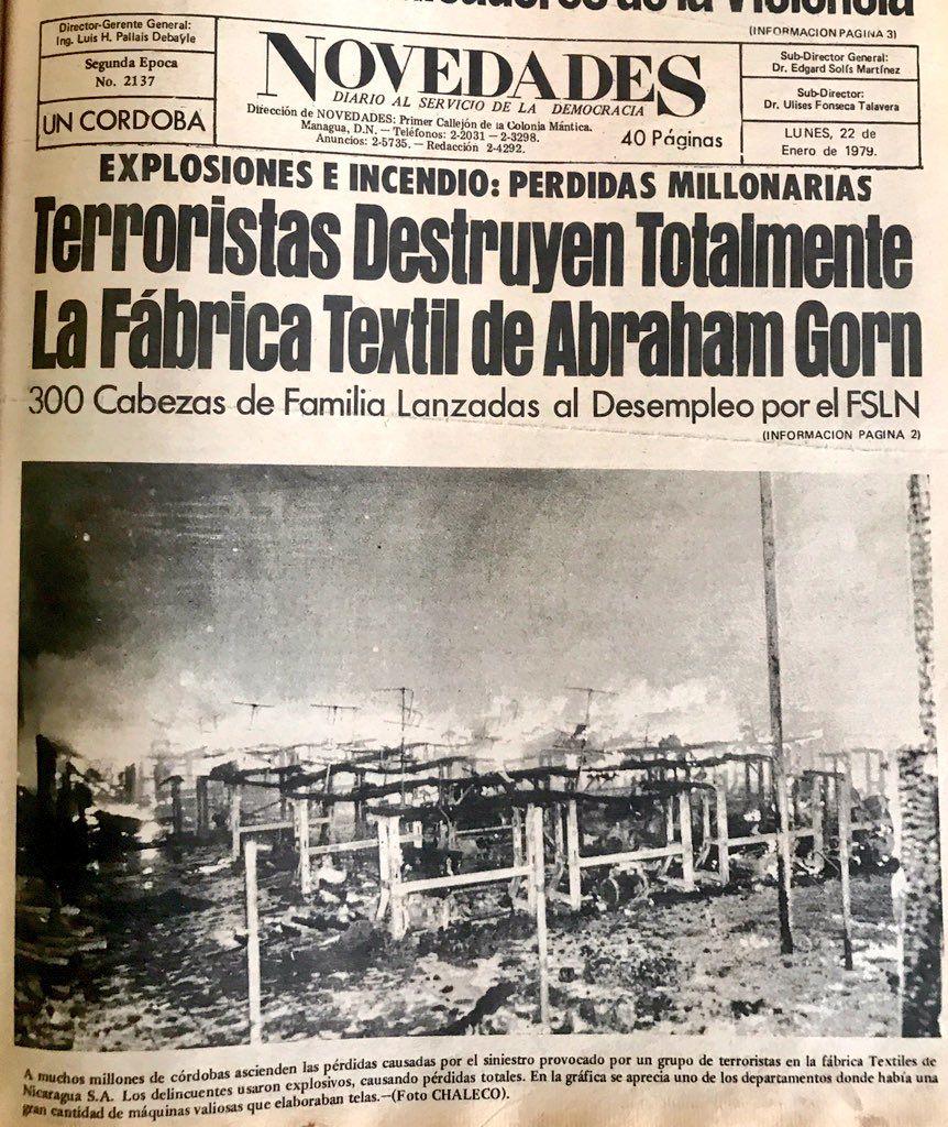 """El somocismo también se refería a los nicaragüenses opositores como """"terroristas"""". 39 años después el orteguismo repite el guión al pie de la letra. LA PRENSA/ CORTESÍA ARCHIVO DE AVIL RAMÍREZ"""