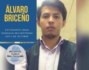 Álvaro Briceño era estudiante de la UNAN Managua. LA PRENSA/ TOMADA DE REDES SOCIALES