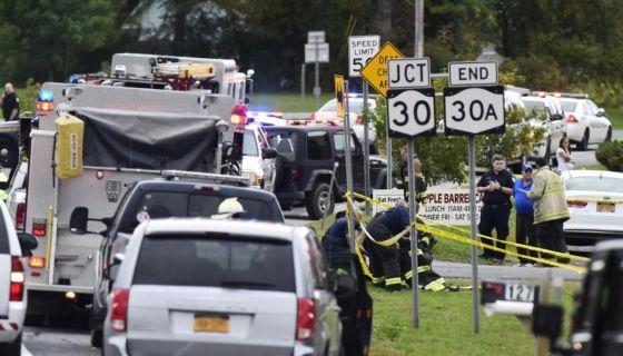 Al menos 20 muertos en se registran tras el accidente de una limusina en Schoharie, Nueva York. LA PRENSA/ Tomada del NYT