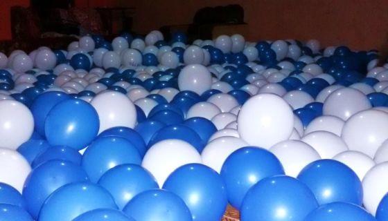 Los globos azul y blanco han sido lanzados en departamentos como Masaya, Boaco, Managua y en el Caribe Sur de Nicaragua. LA PRENSA/ CORTESÍA