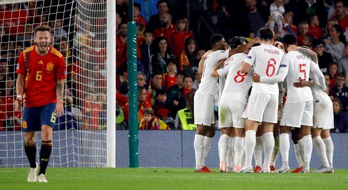 Inglaterra derrotó a España con una remontada en el segundo tiempo, en la jornada de la Liga de Naciones de la UEFA este lunes. LA PRENSA/EFE