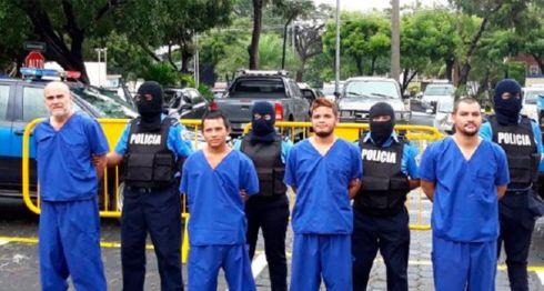 En Matagalpa secuestraron a Oneal Josué Granado, Eddy Antonio Praslin, Moises Alfredo Leiva Chavarría y Yelsin Efrén Mairena, manifestantes azul y blanco. LA PRENSA/ TOMADA DE CANAL 4
