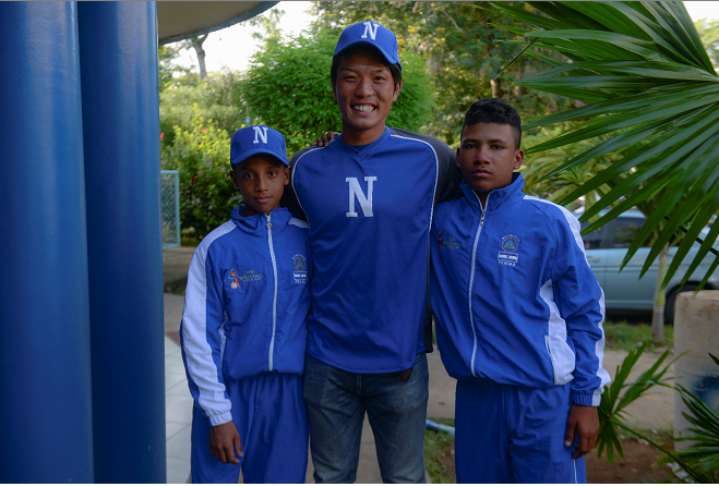 Por sus conocimientos como entrenador, el Japonés Shota Abe compartió sus conocimientos con las selecciones mejores y juveniles de Nicaragua por medio de Feniba. Foto ARCHIVO