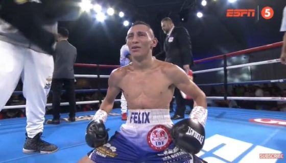 Félix Alvarado derrotó por nocaut técnico al filipino Randy Peltacorin este lunes, para ganar la corona de las 108 libras de la FIB. LA PRENSA/CORTESÍA