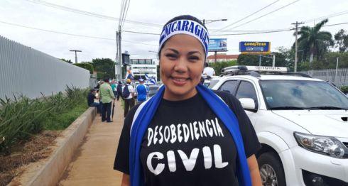 Irlanda Jerez, presa política de la dictadura de Daniel Ortega en Nicaragua y comerciante del Mercado Oriental. LA PRENSA/ CORTESÍA