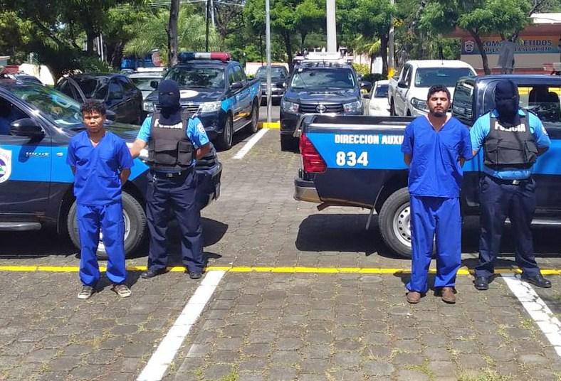 Policía Orteguista presenta a líder anticanal de Rivas, Ronald Iván Henríquez Delgado. LA PRENSA/ TOMADA DE EL 19