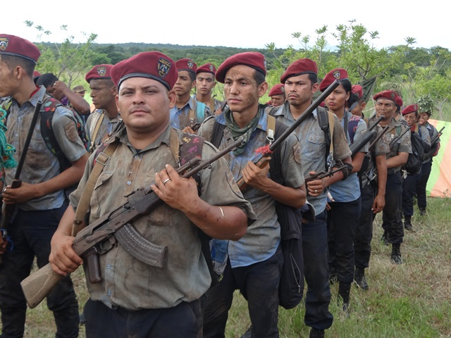 """Cientos de Policías Orteguistas están recibiendo entrenamiento militar en las últimas semanas para nuevos """"combates"""". LA PRENSA/ TOMADA DE LA PO"""