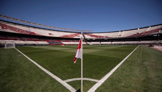 El estadio Monumental, sede del River Plate, se quedó sin partido de vuelta en la final de la Copa Libertadores, en la que enfrenta al Boca Juniors. LA PRENSA/EFE/ Matías Napoli