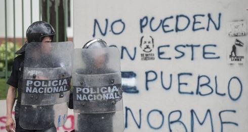 Policía Orteguista, represión, consejerías, escuelas