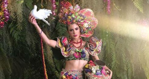 Miss Nicaragua con el traje del diseñador Alfonso Pascua. LA PRENSA/ REDES SOCIALES