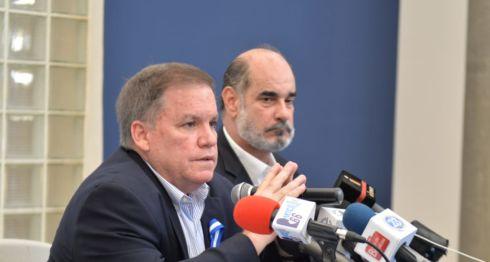 José Adán Aguerri y Michael healy, directivos del Cosep presidieron la conferencia de prensa tras finalizar el cónclave del sector privado. LA PRENSA/ JADER FLORES