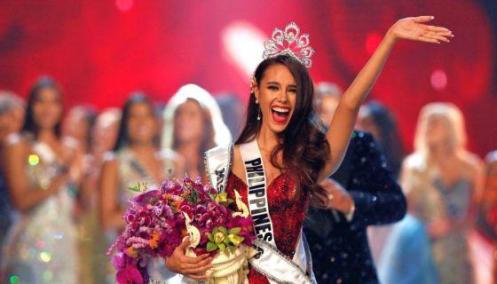 Catriona Gray se convirtió en la cuarta Miss Universo originaria de Filipinas. LA PRENSA/ EFE