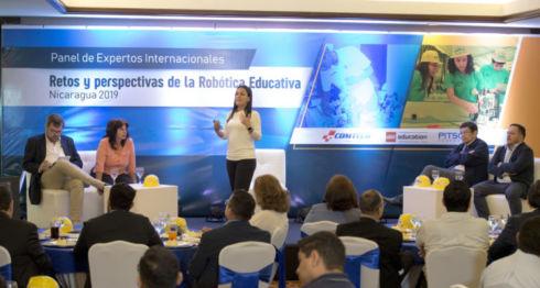 Panel de Expertos Internacionales Retos y Perspectivas de la Robótica Educativa Nicaragua 2019. LA PRENSA/ Uriel Molina