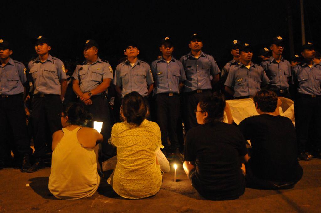Los jóvenes que participaron en las protestas de Ocupa INSS. LA PRENSA/ Carlos Herrera/ ARCHIVO