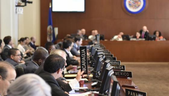 Nicaragua en el Consejo Permanente de la Organización de Estados Americanos (OEA). LA PRENSA/ Cortesía