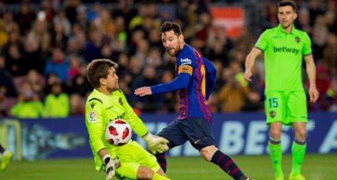El Barcelona superó al Levante en los octavos de final de la Copa del Rey y ahora disputará al Sevilla en cuartos. LA PRENSA/EFE/Joan Monfort