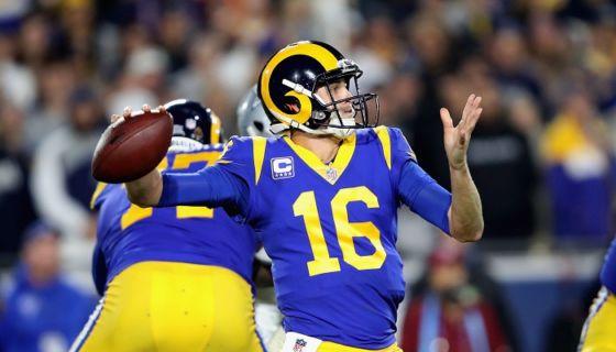 Jared Goff ha liderado a Los Ángeles Rams en su sorprendente temporada de la NFL y que podría tener la recompensa de llegar al Super Bowl. LA PRENSA/Sean M. Haffey/Getty Images/AFPJared Goff ha liderado a Los Ángeles Rams en su sorprendente temporada de la NFL y que podría tener la recompensa de llegar al Super Bowl. LA PRENSA/Sean M. Haffey/Getty Images/AFP