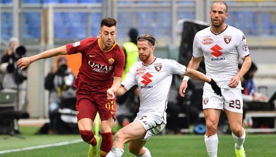Stephan El Shaarawy (92) anotó el gol de la victoria de la Roma ayer. LA PRENSA/AFP / Vincenzo PINTO