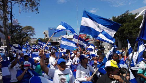 marcha, nicaragüenses, exilio, represión, Nicaragua