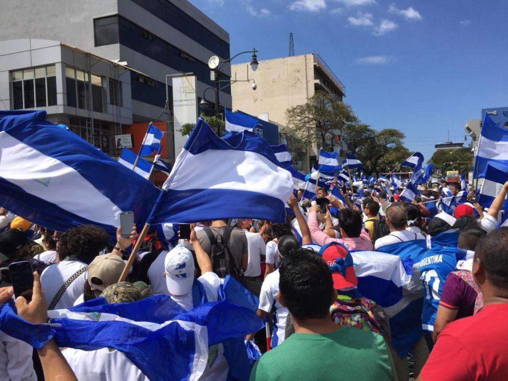 Este fin de semana también los nicaragüenses que están en Estados Unidos realizaron una manifestación en el estado de La Florida. LA PRENSA/ GERALL CHÁVEZ/ CORTESÍA