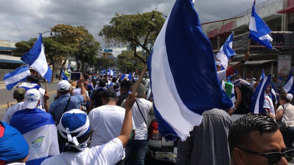 La activista Mónica López Baltodano explicó que el principal objetivo de la manifestación es enviar un mensaje de unidad a las familias nicaragüenses. LA PRENSA/ GERALL CHÁVEZ/ CORTESÍA
