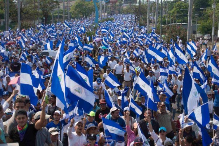 Los empresarios de Nicaragua convocaron a marcha este jueves, pese a que aún no cuentan con el permiso de la Policía Orteguista. LA PRENSA/ ARCHIVO