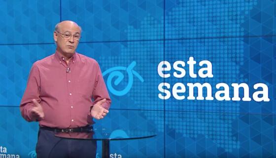 El periodista Carlos Fernando Chamorro presentando su programa Esta Semana. LA PRENSA/ CAPTURA
