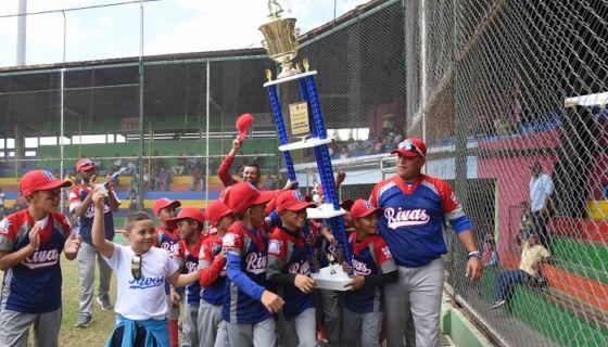 Rivas se coronó en el Campeonato Nacional de Beisbol Infantil A, al derrotar a Managua en la final, invirtiendo el resultado de la edición pasada en la que ambos también se enfrentaron en el duelo por el título. LA PRENSA/ROBERTO FONSECA