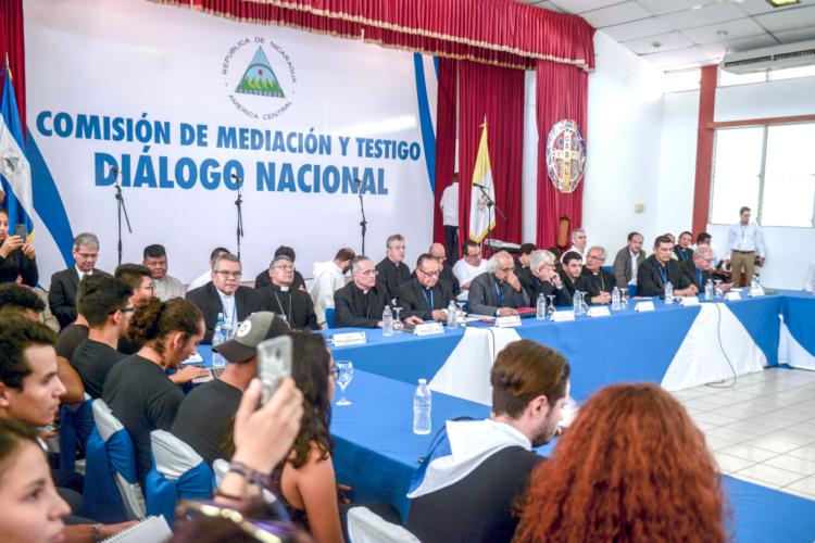 La Conferencia Episcopal de Nicaragua insiste en que debe retomarse el Diálogo Nacional para encontrar una salida a la crisis. LA PRENSA/ ARCHIVO