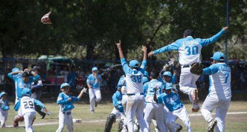 Managua venció a Rivas en la final del Campeonato Nacional de Beisbol Infantil AA, celebrado en Malpaisillo, León. LA PRENSA/URIEL MOLINA
