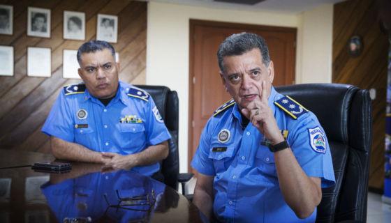 El jefe de la Policía Orteguista, Francisco Díaz, aseguró que los manifestantes estaban drogados y armados y por eso la PO actuó. LA PRENSA/ Cortesía