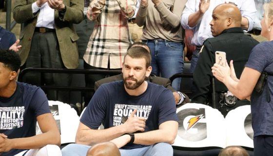 Marc Gasol pasó a los Raptors de Toronto en cambio con los Grizzlies de Memphis, en la jornada límite para los cambios en la NBA. LA PRENSA/EFE/ Karen Pulfer Focht